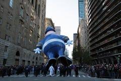 La polizia departmen l'aerostato nella parata del Macy Fotografie Stock Libere da Diritti