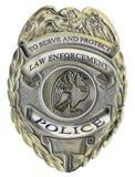 La polizia di applicazione di legge dello sceriffo badge Fotografia Stock Libera da Diritti
