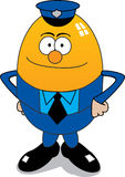 La polizia Egg il vettore Fotografia Stock Libera da Diritti