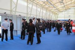La polizia lavora Fotografia Stock
