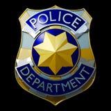 La polizia lucida badge Fotografia Stock Libera da Diritti