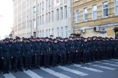 La polizia, marzo per pace immagini stock