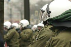 La polizia ostruisce Immagine Stock