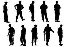 La polizia perlustra Fotografia Stock Libera da Diritti