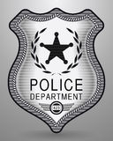 La polizia realistica Badge Illustrazione isolata vettore Fotografia Stock