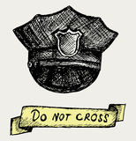 La polizia ricopre. Stile di Doodle Fotografia Stock Libera da Diritti