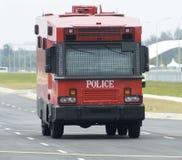 La polizia rossa trasporta Fotografie Stock