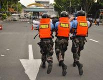 La polizia salva l'addestramento Fotografie Stock