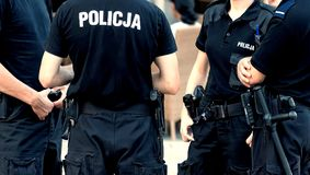 La polizia sorveglia Fotografia Stock Libera da Diritti