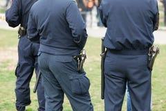 La polizia sorveglia Fotografie Stock