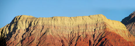 La pollera de la coya, montanha vermelha no por do sol Fotografia de Stock Royalty Free