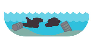 La pollution par les hydrocarbures environnementale de problèmes écologiques de la destruction de déboisement d'air de la terre d Photographie stock