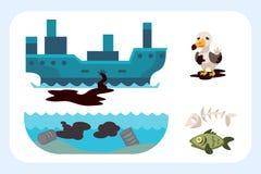 La pollution par les hydrocarbures environnementale de problèmes écologiques de la destruction de déboisement d'air de la terre d Photos stock