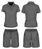 La polo-camicia degli uomini e shorts di sport Fotografia Stock