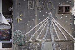 La Pologne : Art de rue à Varsovie Image libre de droits