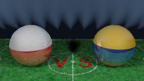 La Pologne contre la Colombie Coupe du monde 2018 de la FIFA Image 3D originale Photos libres de droits