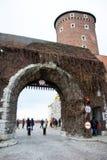 La Pologne, Cracovie, château Photos stock