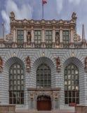 La Pologne Danzig le 13 septembre 2018 Plan rapproché d'un bâtiment à Danzig où le bâtiment médiéval est dans le premier plan, dé photographie stock