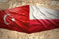 La Pologne et la Turquie Photo libre de droits