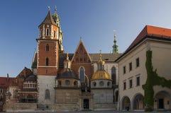 La Pologne - le château de Wawel Photo stock