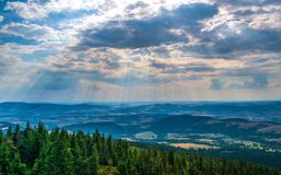 La Pologne, montagnes photographie stock libre de droits