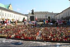 La Pologne pleure. Photographie stock