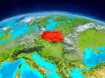 La Pologne sur terre Photographie stock libre de droits