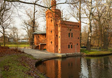 La Pologne-Wilanow, décembre 2015 Station historique de pompage de l'eau à Image libre de droits