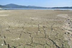 La Polonia del sud durante la siccità (lago dello zywieckie) fotografie stock