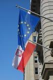 La Polonia e l'Unione Europea Fotografia Stock Libera da Diritti