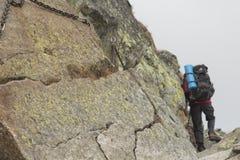 La Polonia, montagne di Tatra, Orla Perc Route Fotografie Stock