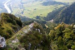La Polonia - paesaggio Pieniny della montagna Immagini Stock Libere da Diritti