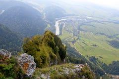 La Polonia - paesaggio Pieniny della montagna Immagini Stock
