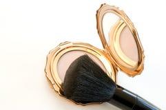 la Polvere-casella con nero polvere-spazzola Immagine Stock