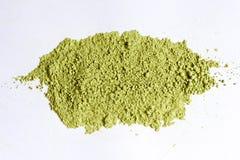 La polvere di tè giapponese spalmata nel sole è verde molto bello immagini stock