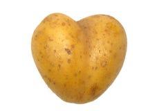 la pomme de terre de coeur a formé Photo stock