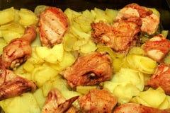 La pomme de terre et chiken Photographie stock