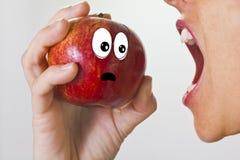 La pomme terrifiée Photographie stock libre de droits