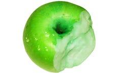La pomme verte soit morsure Images stock