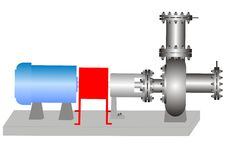 La pompa centrifuga Fotografia Stock