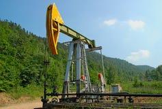 La pompa di olio funzionante Fotografia Stock