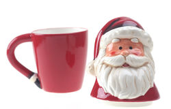 La porcelaine Santa Claus rouge a isolé Photographie stock