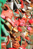 La porción de corazón cierra amor romántico Fotos de archivo libres de regalías