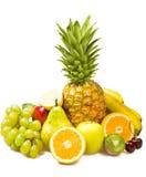 La porción de frutas frescas aisló Foto de archivo