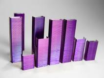 La porpora astratta cuce con punti metallici II Fotografie Stock Libere da Diritti