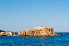 La Port Fondue small fort, Porquerolles Island. La Tour Fondue small fort, Porquerolles Island, France Stock Image