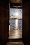 La porta al lago Immagini Stock Libere da Diritti