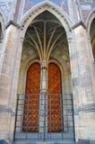 La porta alla cattedrale della st Vitus praga Repubblica ceca Immagini Stock