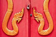 La porta del tempio tailandese ha Naka   stile Fotografie Stock Libere da Diritti
