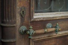 La porta della vecchia banca Immagini Stock